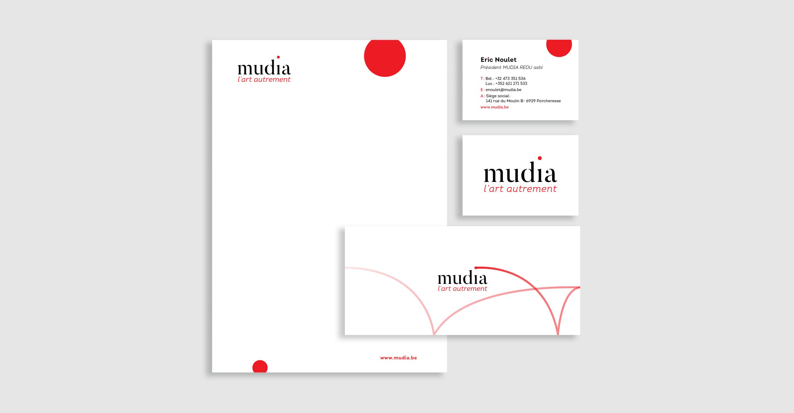 Stationery for a museum