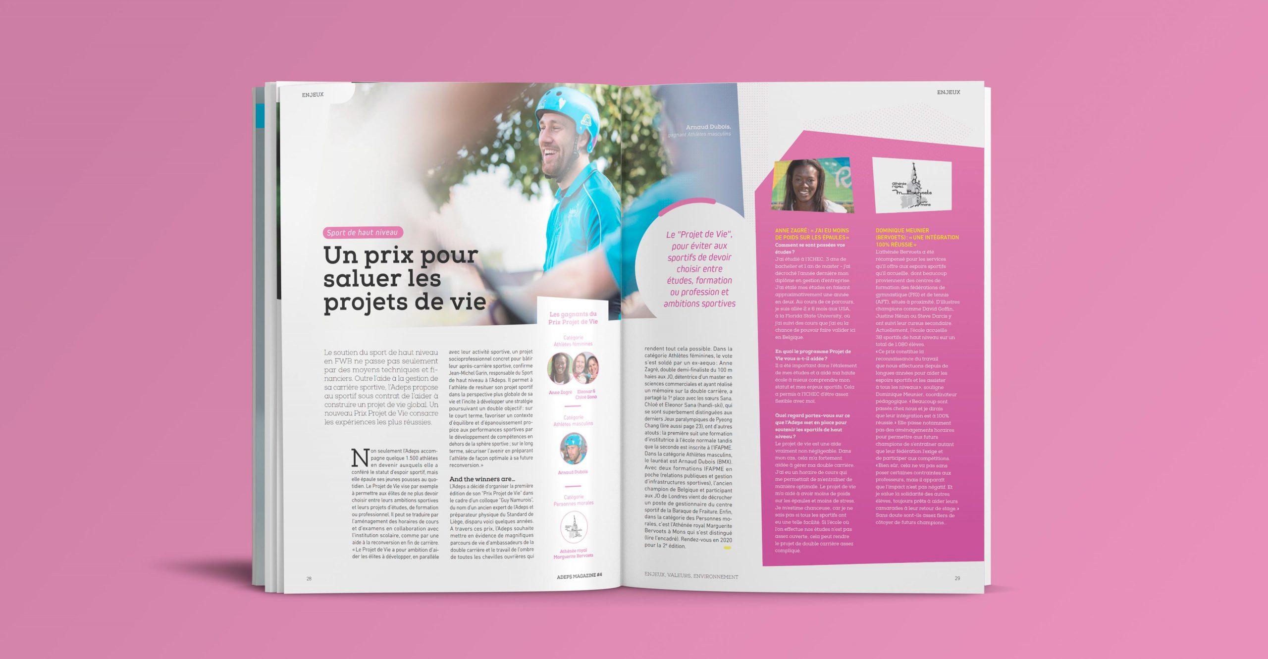Layout of the magazine
