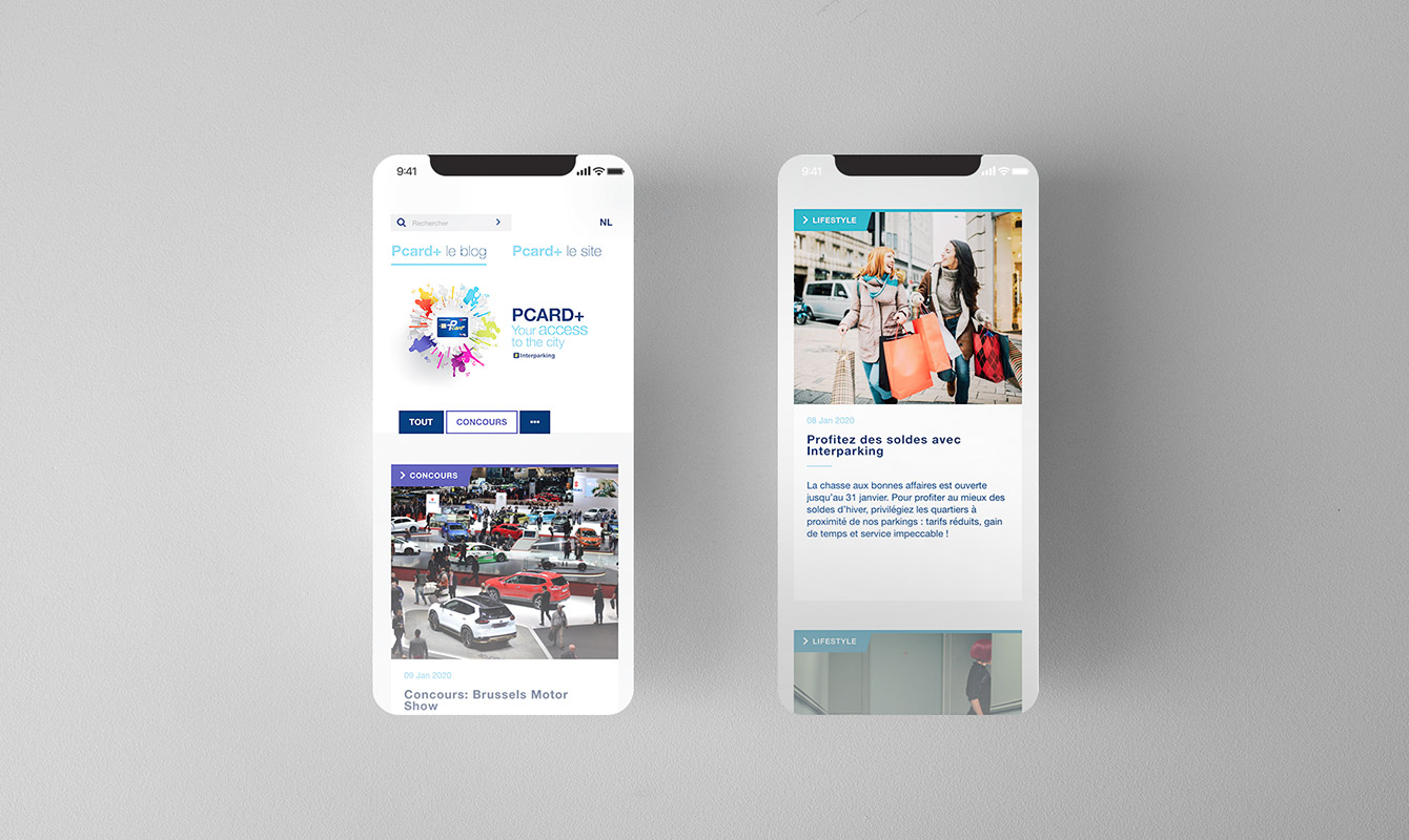 Blog and newsletter on a smartphone