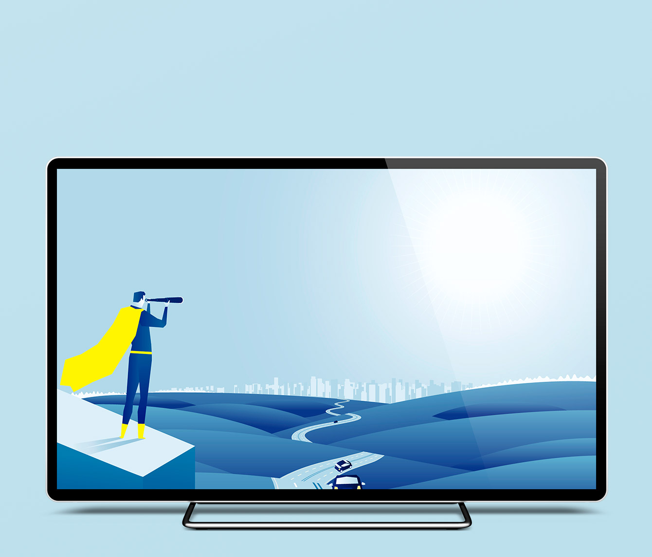 Design of the video displayed on a screen