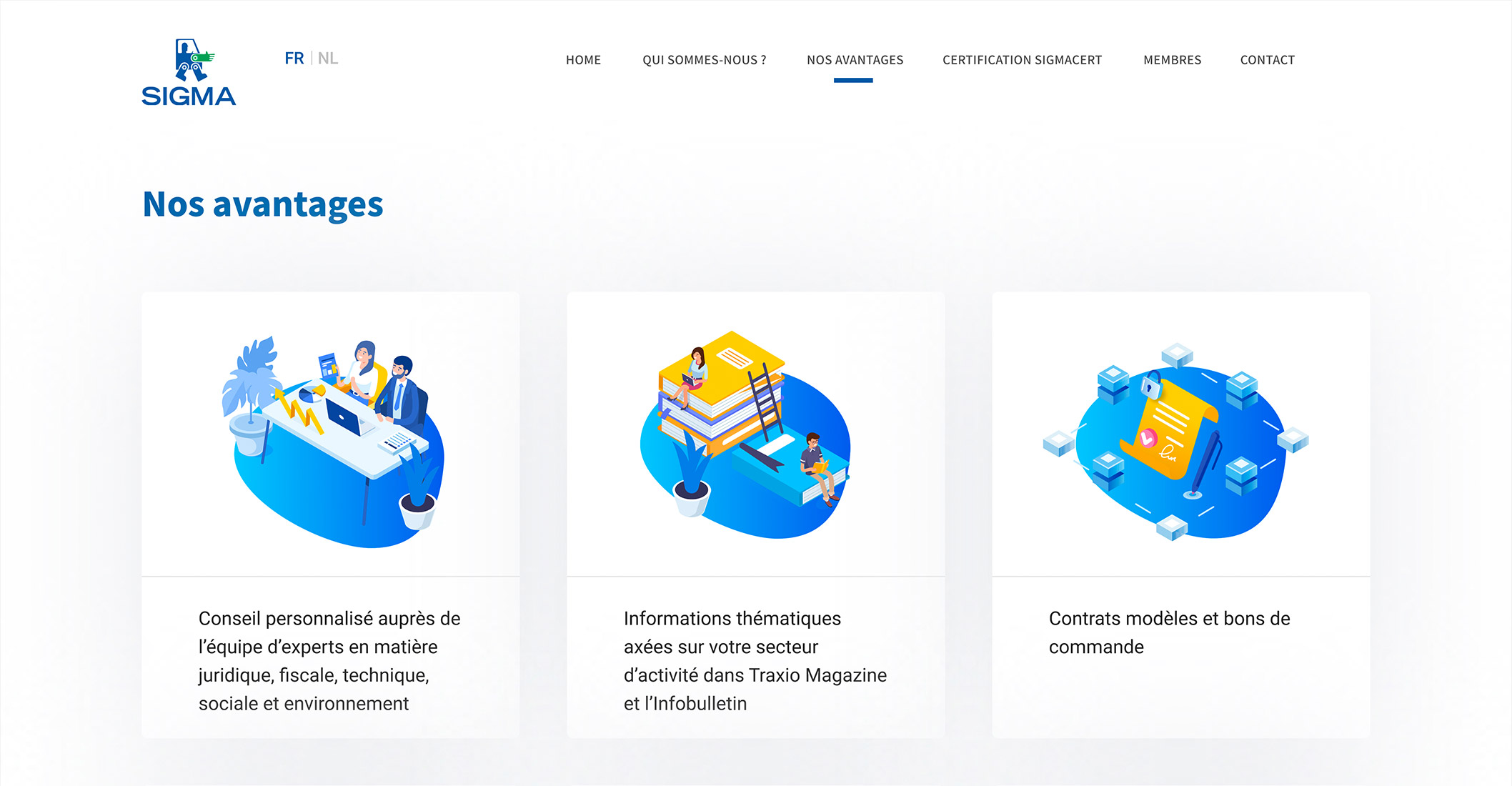 Details of the design of the website