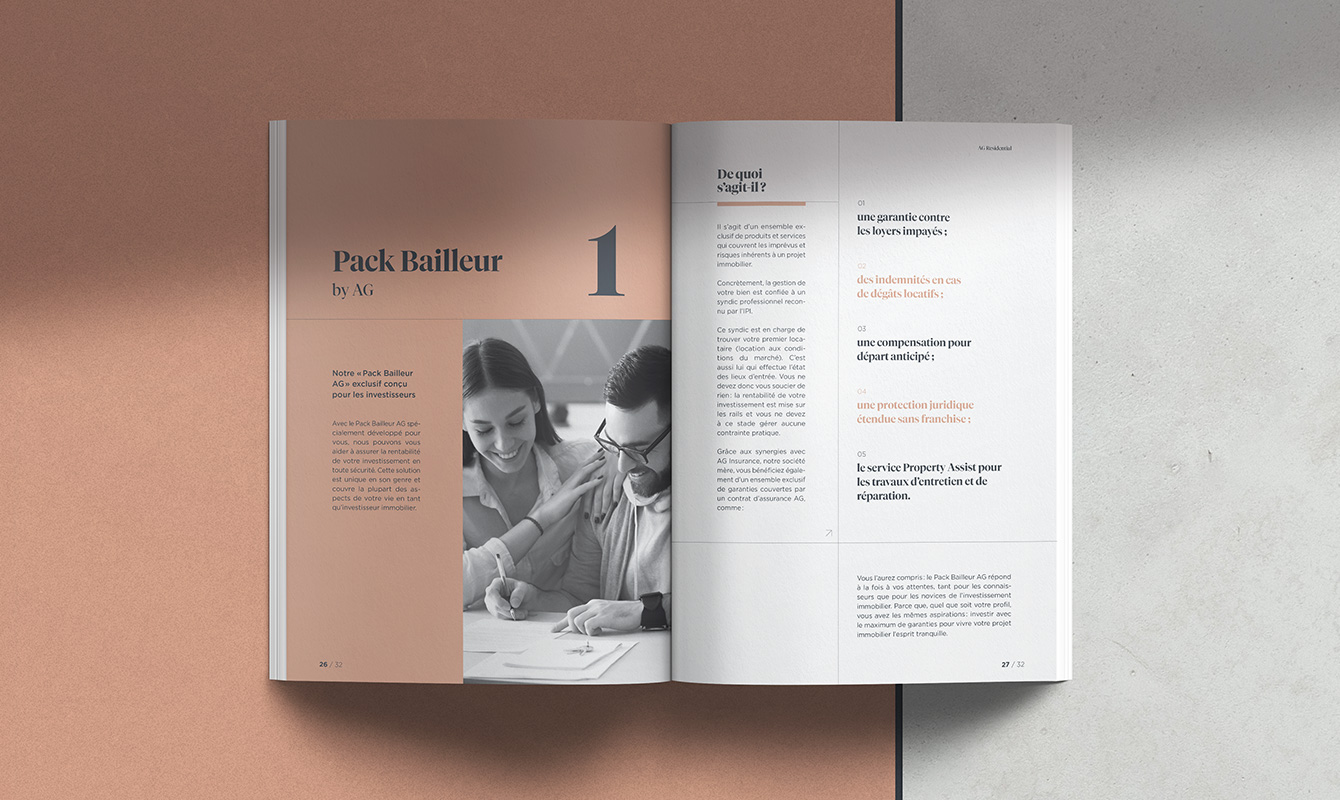 Inside pages of the brochure