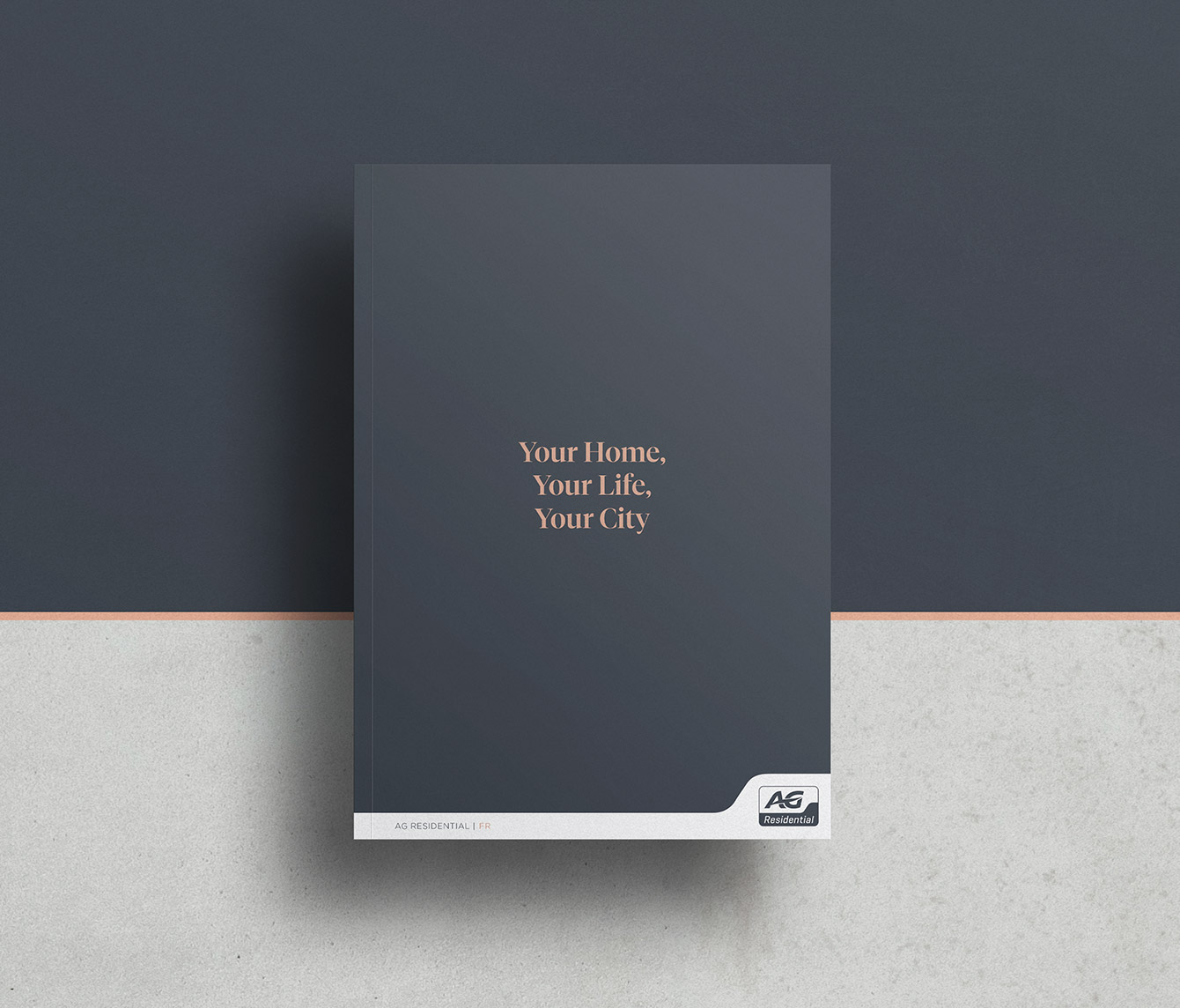 Cover of the brochure with hot foil