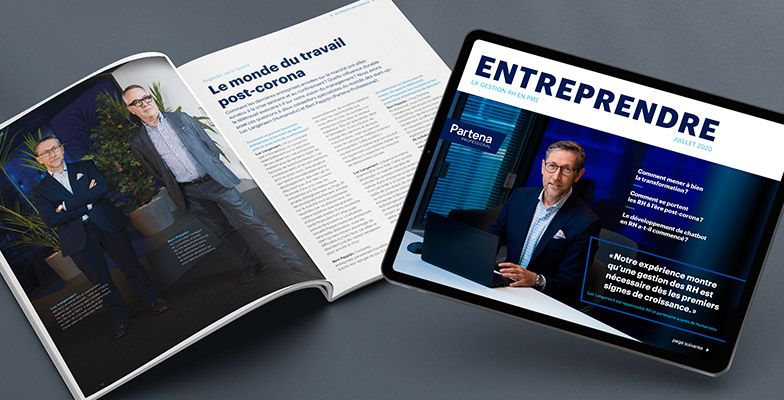 Print magazine and online magazine